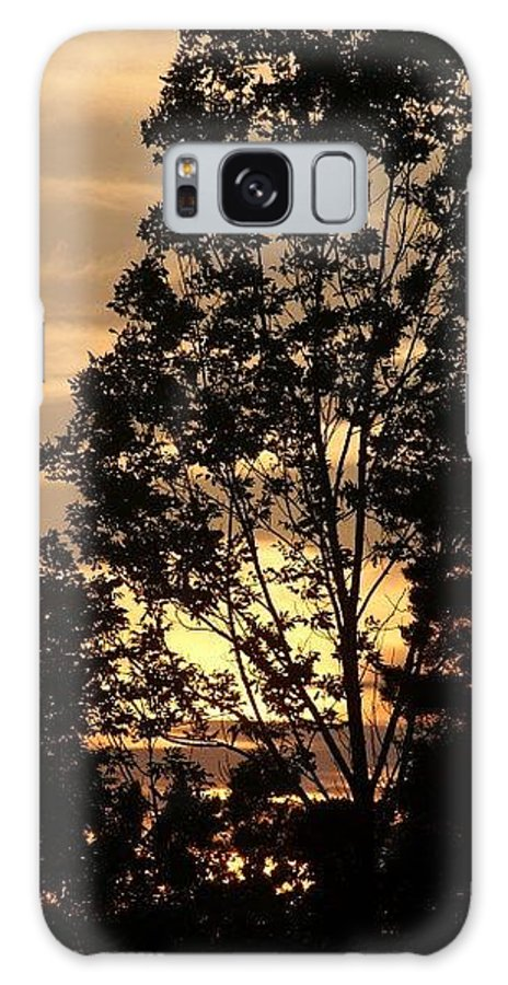 Sunset Galaxy S8 Case featuring the photograph Creamy Night by Christina Adams