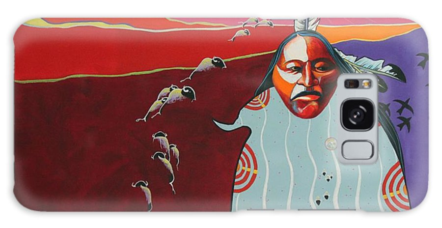 Native American Galaxy Case featuring the painting Creation by Joe Triano