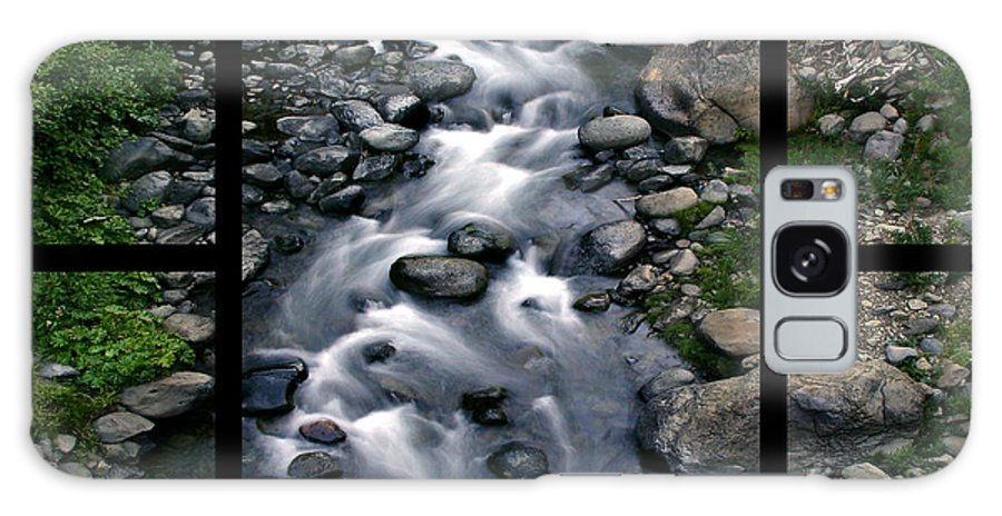 Creek Galaxy S8 Case featuring the digital art Creek Flow Polyptych by Peter Piatt
