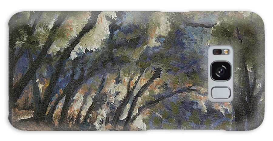 Trees Galaxy S8 Case featuring the painting Creek Road Oaks by Patricia Cluche