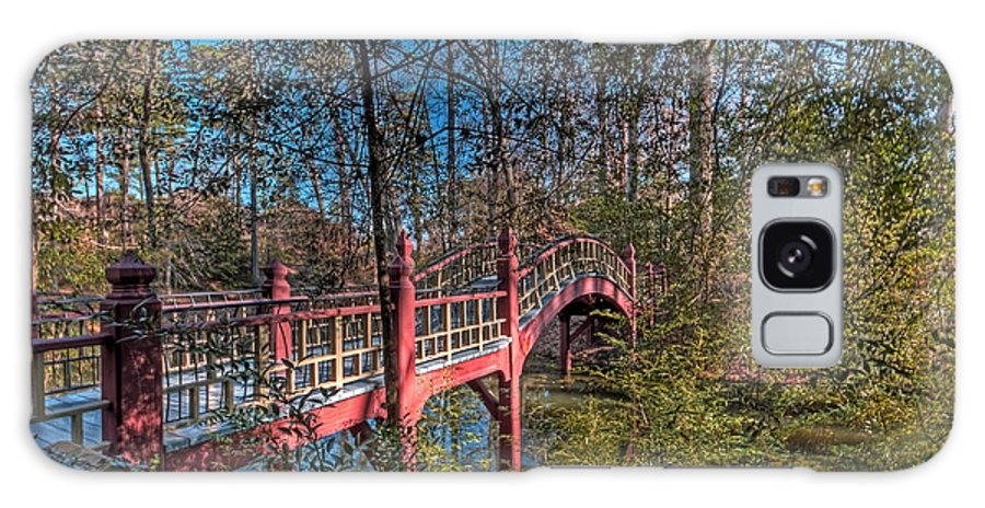 Bridge Galaxy S8 Case featuring the photograph Crim Dell Bridge Spring by Jerry Gammon