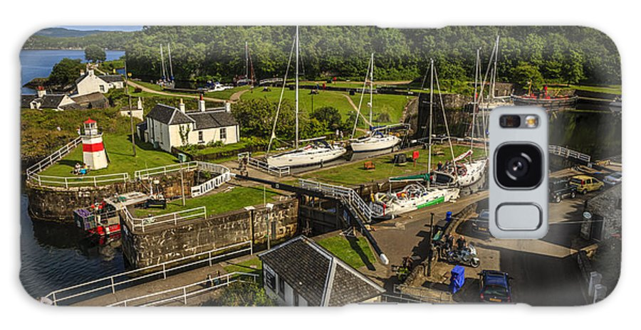 Landscape Galaxy S8 Case featuring the photograph Crinan Basin by Alex Saunders