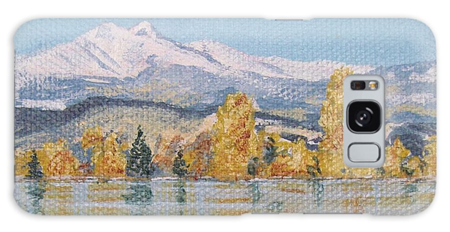 Longs Peak Galaxy S8 Case featuring the painting Crisp Morning by Margaret Bobb