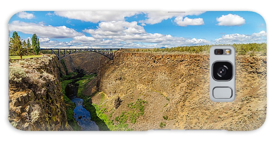Bridge Galaxy S8 Case featuring the photograph Crooked River Canyon And Bridge by Jess Kraft