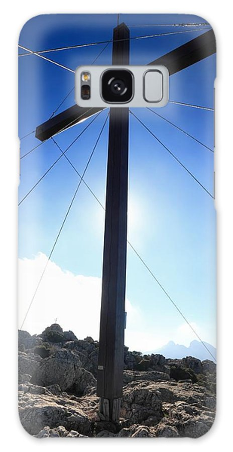 Balagne Galaxy S8 Case featuring the photograph Cross At Capu Di A Veta Near Calvi In Corsica by Jon Ingall
