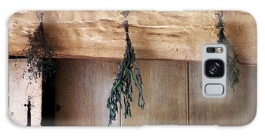 Herbs Galaxy S8 Case featuring the painting Crossbeam With Herbs Drying by RC DeWinter