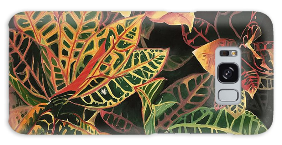 Croton Leaves Galaxy S8 Case featuring the painting Croton Leaves by Judy Swerlick