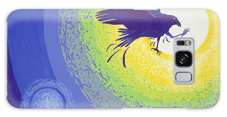 Bird Galaxy S8 Case featuring the photograph Crow, 1999 Gouache On Paper by Derek Crow