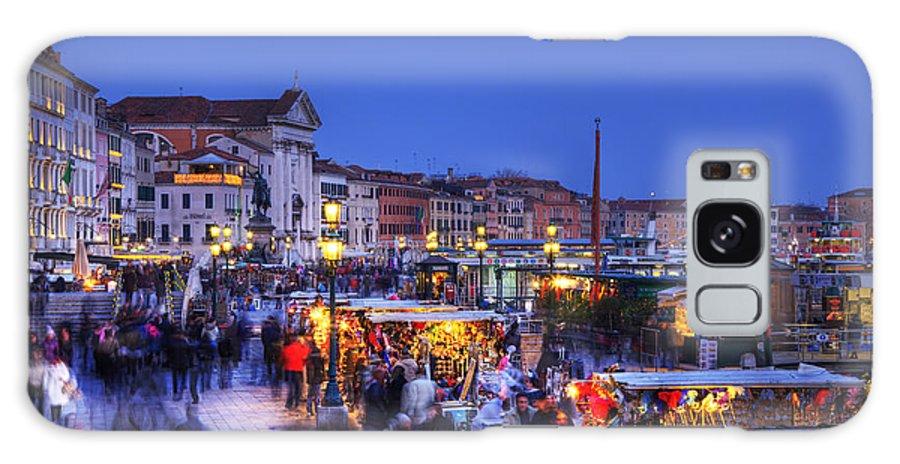 Venice Galaxy S8 Case featuring the photograph Crowd In Venice by Radu Razvan