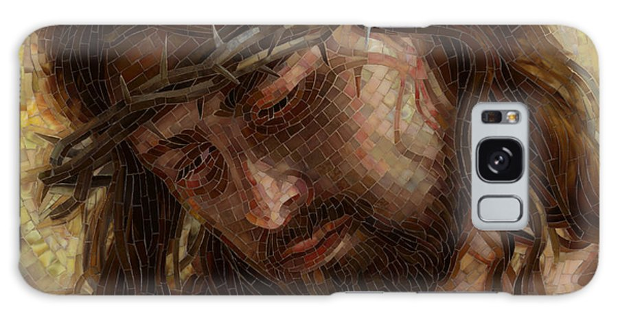 God Galaxy S8 Case featuring the painting Crown Of Thorns Glass Mosaic by Mia Tavonatti