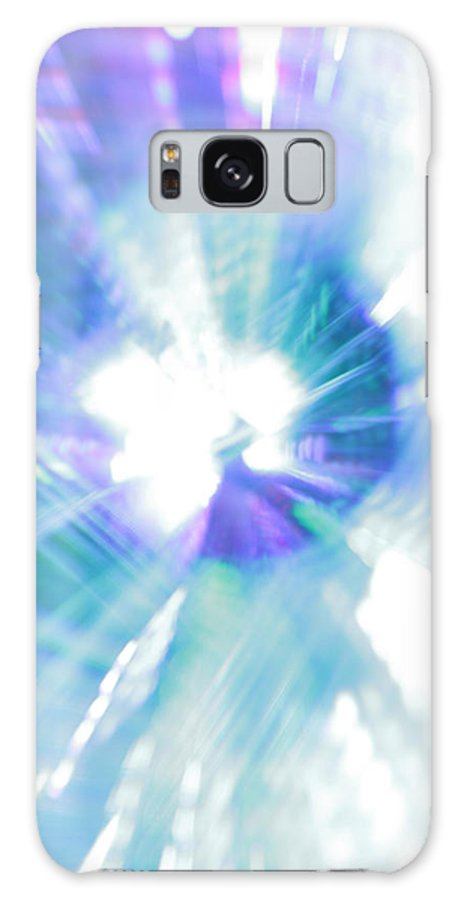 Abstract Galaxy S8 Case featuring the photograph Crystal Blue Persuasion by Dazzle Zazz