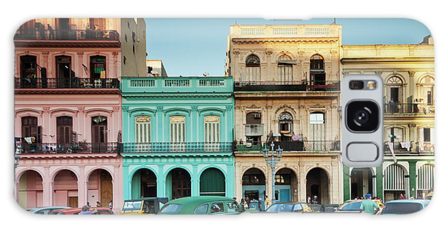 People Galaxy Case featuring the photograph Cuba, Havana, Havana Vieja, Outside T by Walter Bibikow