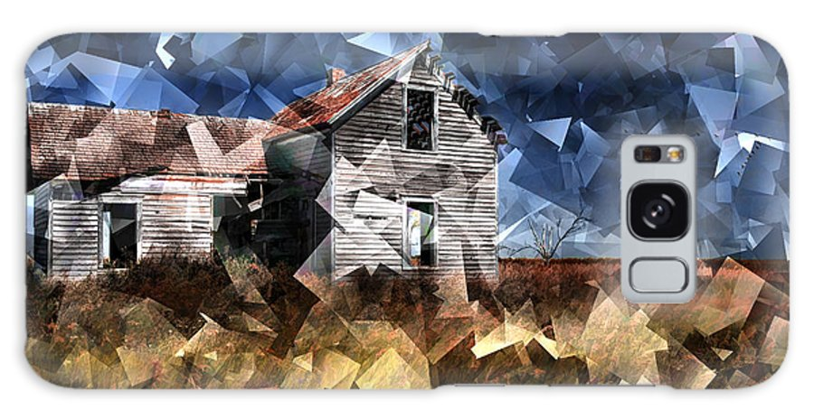 Cubist: Digital Art Galaxy S8 Case featuring the photograph Cubist Abandoned Prairie Farm House by Randall Nyhof