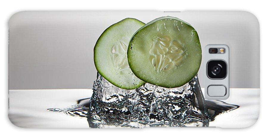 Cucumber Galaxy S8 Case featuring the photograph Cucumber Freshsplash by Steve Gadomski