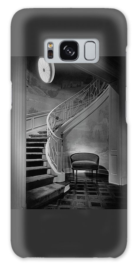 Interior Galaxy S8 Case featuring the photograph Curving Staircase In The Home Of W. E. Sheppard by Maynard Parker