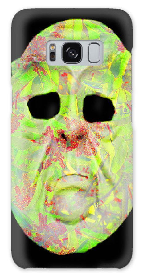 Abstract Galaxy S8 Case featuring the digital art Cut Out Mask by Jack Bowman