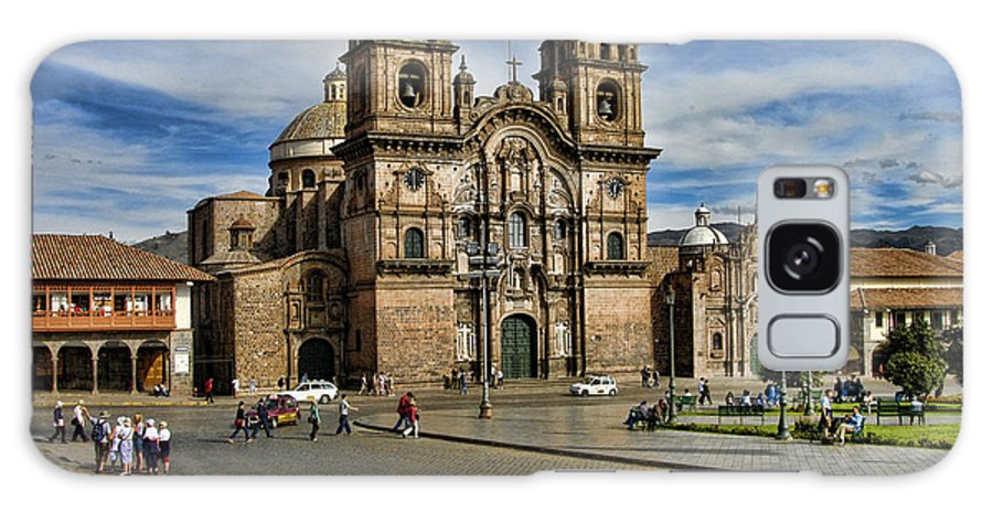Church Peru Cuzco Town Square Galaxy S8 Case featuring the photograph Cuzco Church by Noel Lopez