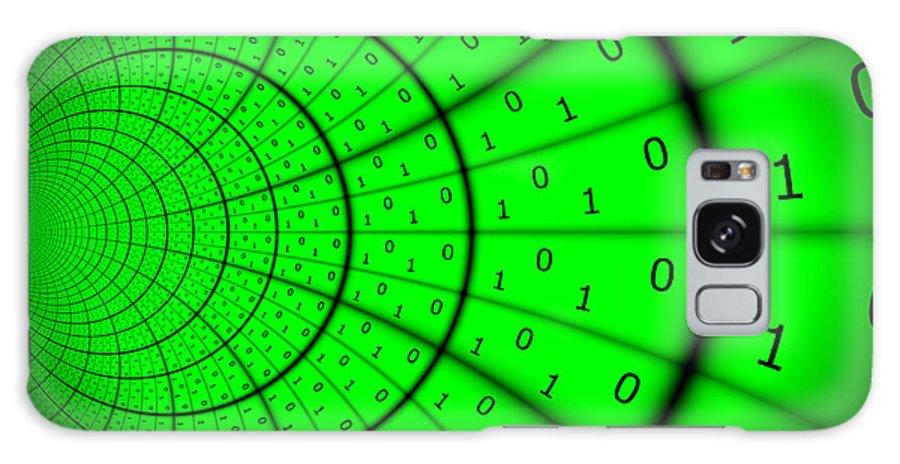 Internet Galaxy S8 Case featuring the digital art Cyberspace 4 by Aurelio Zucco
