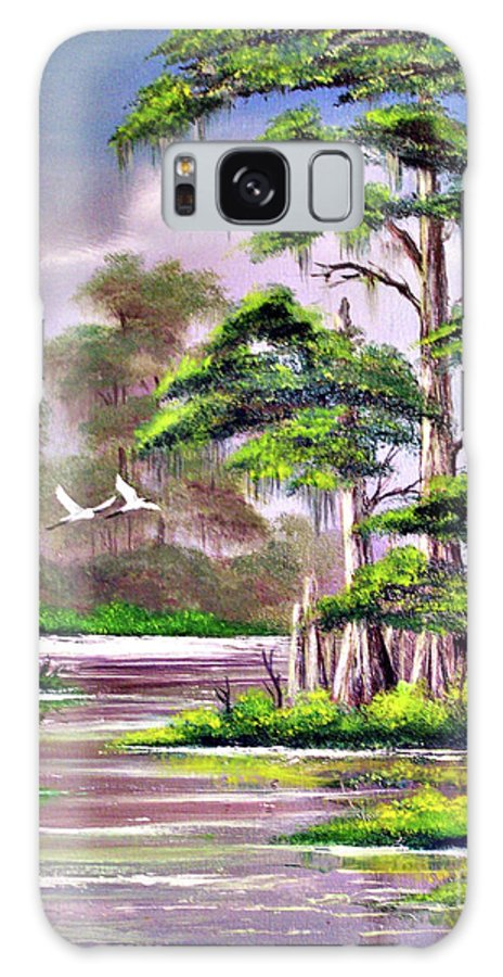 Cypress Galaxy S8 Case featuring the painting Cypress Trees-wakulla River Florida by Bill Holkham