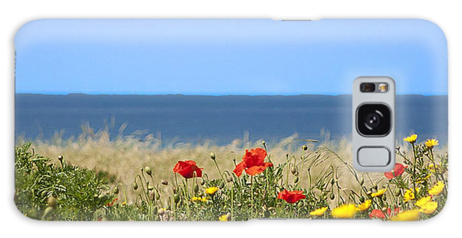 Red Galaxy S8 Case featuring the photograph Cyprus Poppies by Peter Lloyd