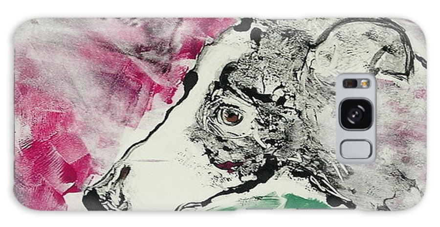 Greyhound Galaxy Case featuring the painting Cyrus by Cori Solomon
