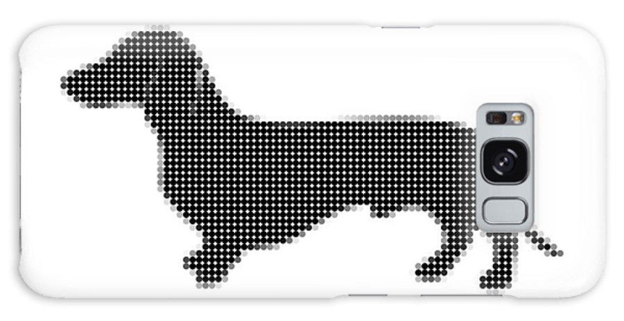 Art Galaxy S8 Case featuring the digital art Dachshund - Dot Portrait by Agus Shodikin