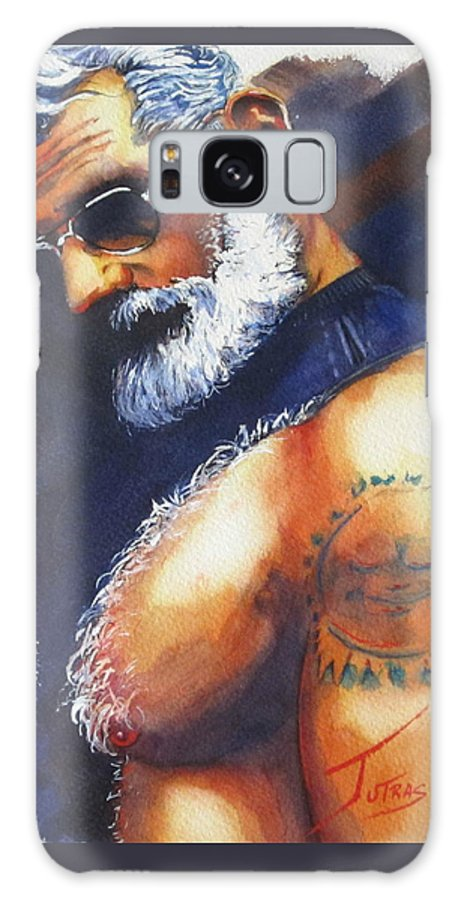 Gay Art Galaxy S8 Case featuring the painting Daddys Home by Michel Jutras