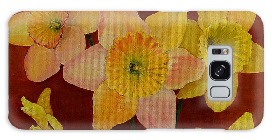 Daffodils Galaxy S8 Case featuring the painting Daffodils by Deyana Deco