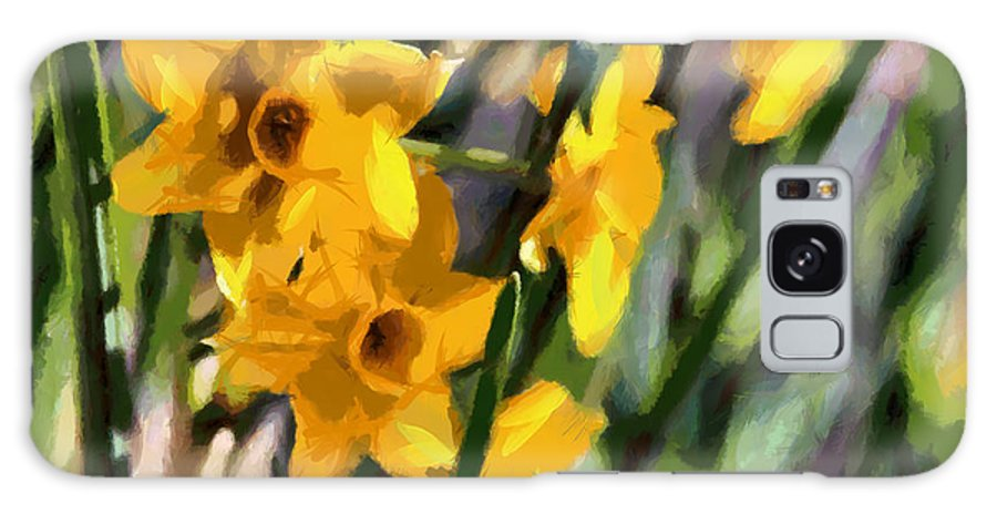 Flora Galaxy S8 Case featuring the painting Daffodils by Lynne Jenkins