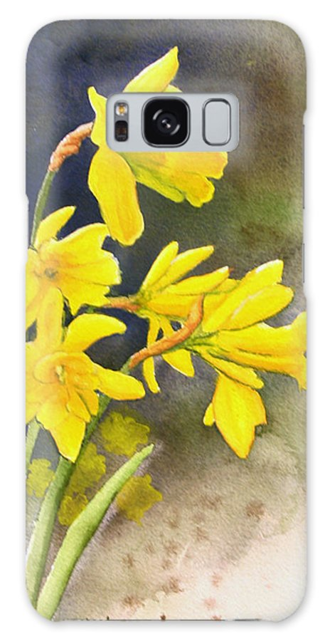 Rick Huotari Galaxy S8 Case featuring the painting Daffodils by Rick Huotari