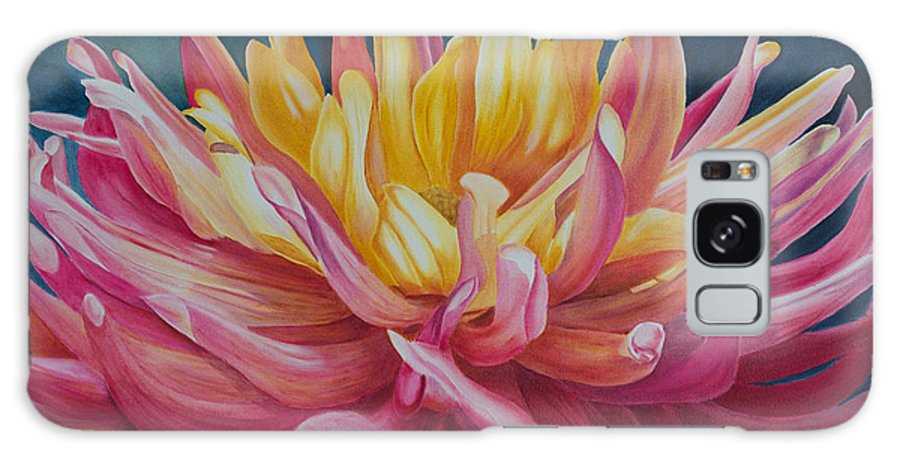 Dahlia Painting Galaxy S8 Case featuring the painting Dahlia I by Melissa Maxwell