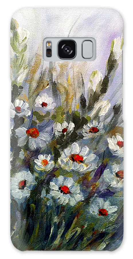 Daisies Galaxy S8 Case featuring the painting Daisies by Dorothy Maier
