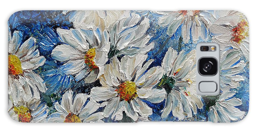 Daisies Galaxy S8 Case featuring the painting Daisy Cluster by Karin Dawn Kelshall- Best