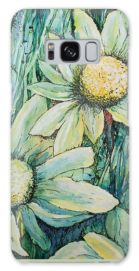 Flowers Galaxy S8 Case featuring the painting Daisy Days by Nicola Morgan