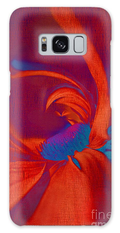 Red Galaxy S8 Case featuring the digital art Daisy Fun - A03ct02 by Variance Collections
