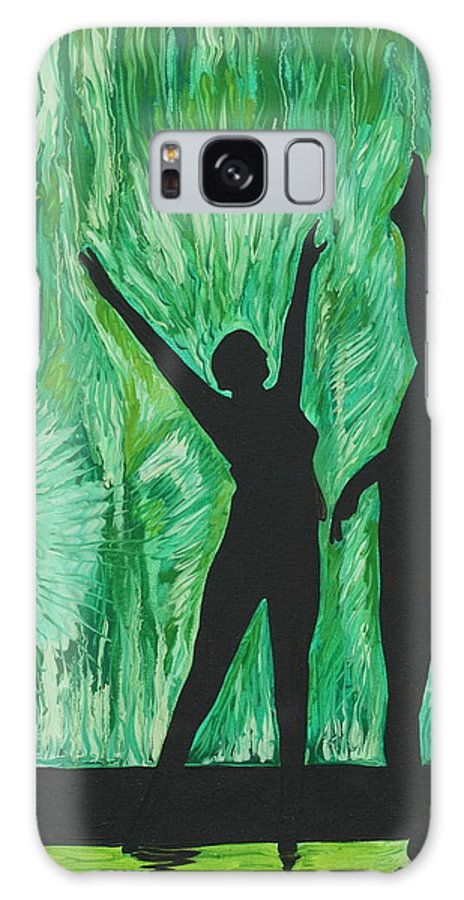 Abstract Galaxy S8 Case featuring the painting Dance by Aimee Vance