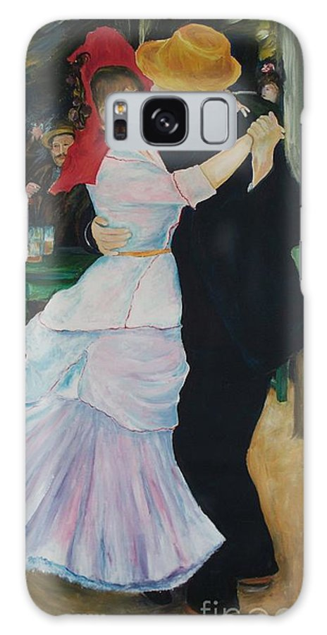 Impressionism Galaxy Case featuring the painting Dance At Bougival Renoir by Eric Schiabor