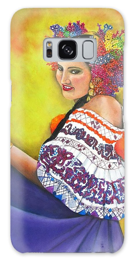 Panama Galaxy S8 Case featuring the mixed media Dance With Me by Linda Weldon