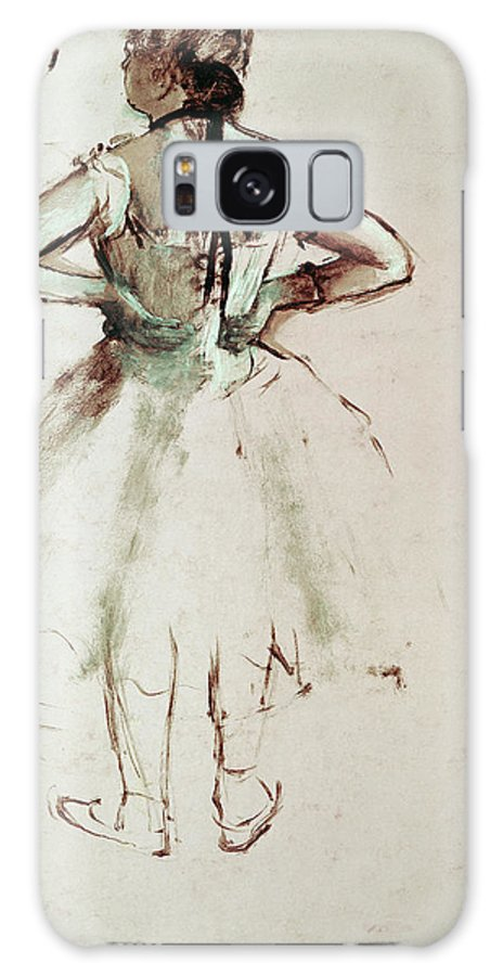 Degas Galaxy Case featuring the painting Dancer Viewed From The Back by Edgar Degas