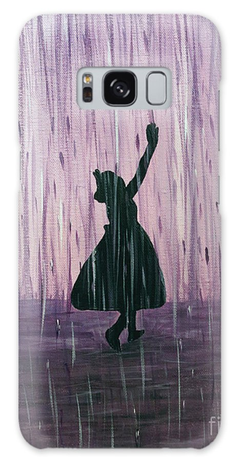 Dance Galaxy S8 Case featuring the painting Dancing In The Rain by Kindra Marie