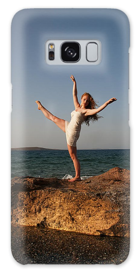 Dance Galaxy S8 Case featuring the photograph Dancing On The Rocks by Manolis Tsantakis