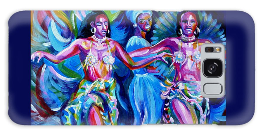 Music Galaxy S8 Case featuring the painting Dancing Panama by Anna Duyunova