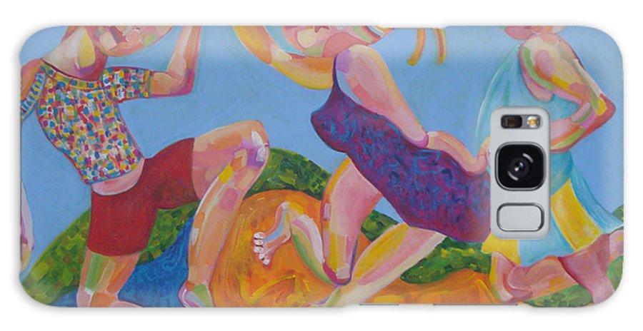 Party Galaxy S8 Case featuring the painting Dancing Queen by Annelies Van Biesbergen