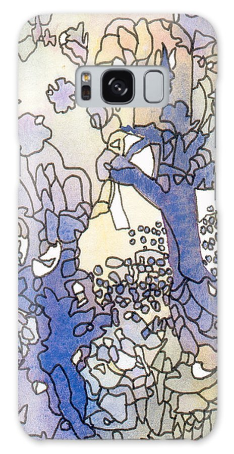 Abstract Galaxy S8 Case featuring the painting Dancing Trees II by Ingela Christina Rahm