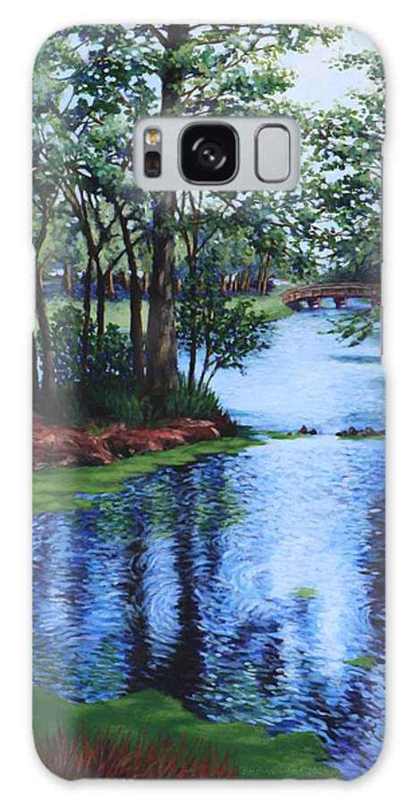 Landscape Galaxy S8 Case featuring the painting Dancing Waters by Penny Birch-Williams