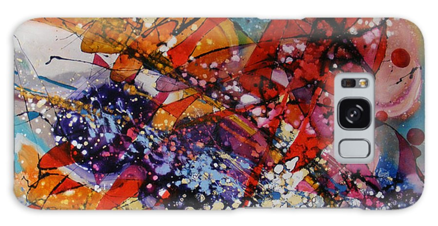 Abstract Galaxy S8 Case featuring the painting Dansand Cu Delfinii by Elena Bissinger