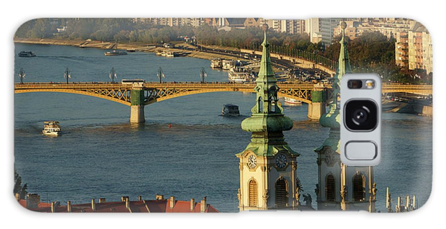 Built Structure Galaxy Case featuring the photograph Danube River And Budapest, Hungary by Chlaus Lotscher