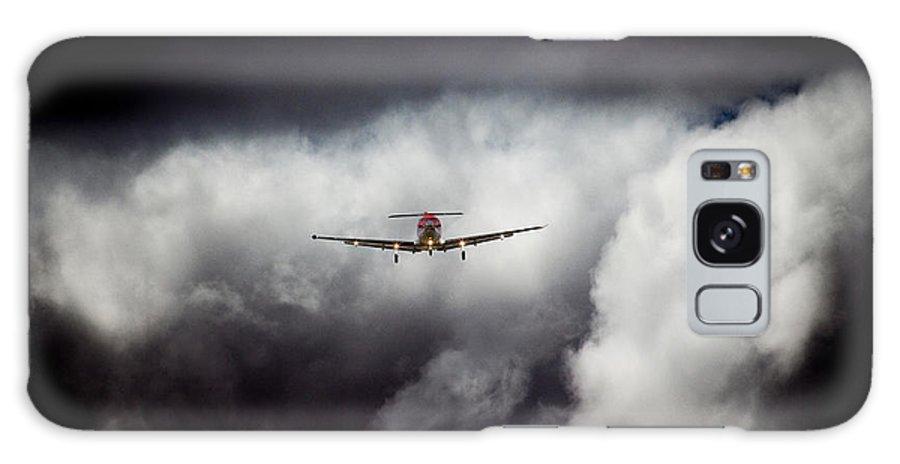 Pilatus Pc 12 Golden Eagle Galaxy S8 Case featuring the photograph Dark 12 by Paul Job
