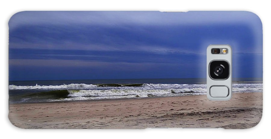Beach Galaxy S8 Case featuring the photograph Dark Blue Skies by Terry C Wagner