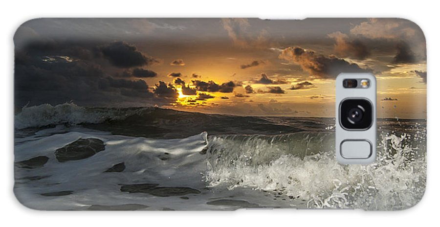 Dark Clouds Galaxy S8 Case featuring the photograph Dark Clouds by Island Sunrise and Sunsets Pieter Jordaan